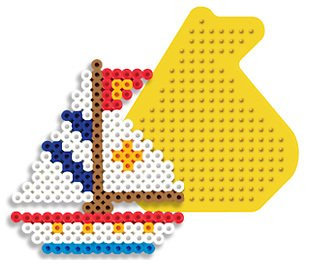 Sailboat Pegboard for Perler Fuse Beads