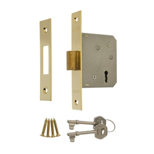 2.5-inch/ 64mm 3 Lever Deadlock - Brass Effect 472-31 By Era
