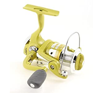 Como 4.7:1 Gear Ratio 3 Ball Bearing Spinning Fishing Reel Yellow Silver Tone