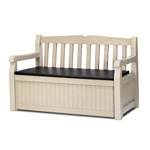 Keter 186300 70 Gallon Garden Bench Box