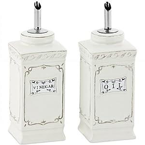 nostalgie tischset lilie essig l porzellan edelstahl k che haushalt. Black Bedroom Furniture Sets. Home Design Ideas