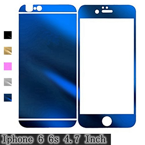 Sapphire iPhone 6 6S Electroplating Mirror Effect Anti Scratches Gravydeals® Fashion Premium Diamond Tempered Glass Screen Protector Film Decal Skin Sticker for Apple iPhone 6 6S 4.7 Inch