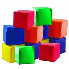 ECR4Kids Soft Toddler Blocks 5.5 Foam Cubes