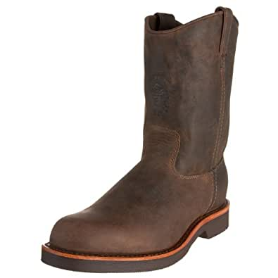 """Chippewa Men's 20075 10"""" Rugged Handcrafted Pull-On Boot,Chocolate Apache,6 D US"""