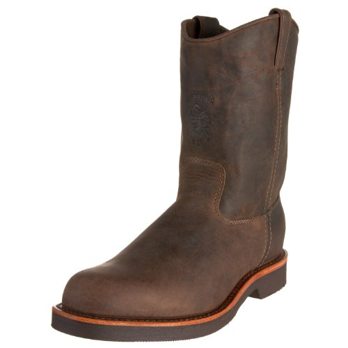 "Chippewa Men's 20075 10"" Rugged Handcrafted Pull-On Boot,Chocolate Apache,11 D US"