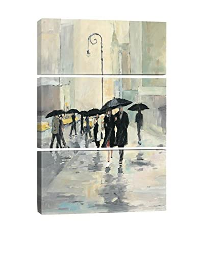Avery Tillmon City in the Rain Gallery Wrapped Triptych Canvas Print