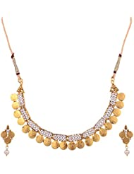Ketan Jewellers Gold Plated Brass & Metal Choker Necklace Set For Women (KJ-1KJ)