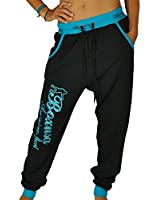CBKTTRADE Damen Jogginghose Boxusa Hose Haremhose Pumphose Sporthose Baggy Fitnesshose S M L XL