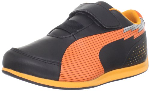 Puma Evospeed F1 Lo V Kids Sneaker (Toddler/Little Kid/Big Kid),Black/Flame Orange,7 M US Toddler