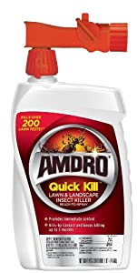 Amdro Quick Kill Ready to Spray Lawn and Landscape Insect Killer, 32-Ounce