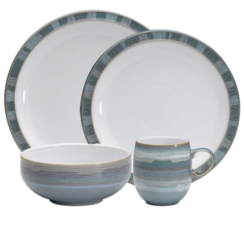 Denby Azure Coast 4-Piece Place Setting, Blue