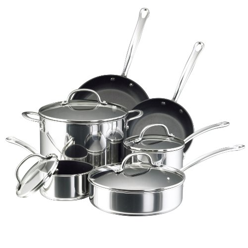 Farberware Millennium Stainless Steel Nonstick 10-Piece ...