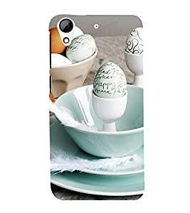 printtech Happy Easter Eggs Plate Back Case Cover for HTC Desire 626G / HTC Desire 626G+