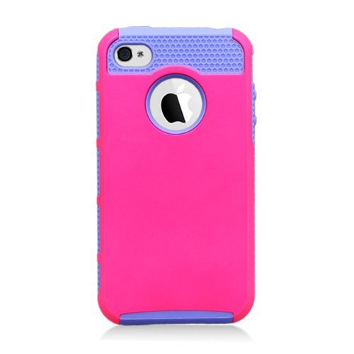 [Windowcell] Iphone4 4s Hybird Case Lite Purple Tpu Pink Hard Cover