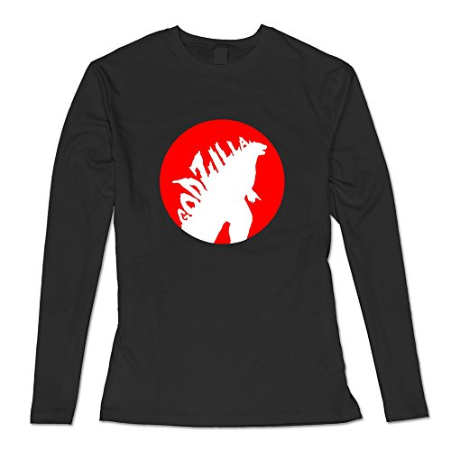 [AOPO Women's Long Sleeve Godzilla T Shirt XX-Large Black] (Anguirus Costume)