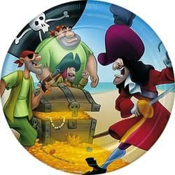 "Captain Hook 7"" Dessert Plates - 8 Count"