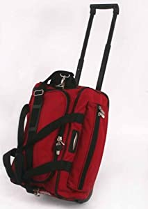 Jeep Wheeled Holdalls 18 inch Cabin Flight Hand Luggage Bag PH568 Red