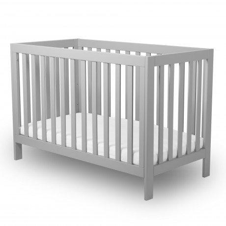 Alfred & Compagnie - Lit bébé évolutif 60x120 hêtre massif gris