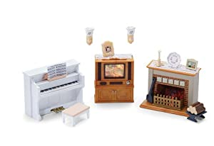 Calico critters living room accessories set - Calico critters deluxe living room set ...
