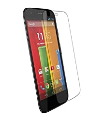 ShopAIS Anti Burst Tempered Glass Screen Guard Protector For Motorola Moto E