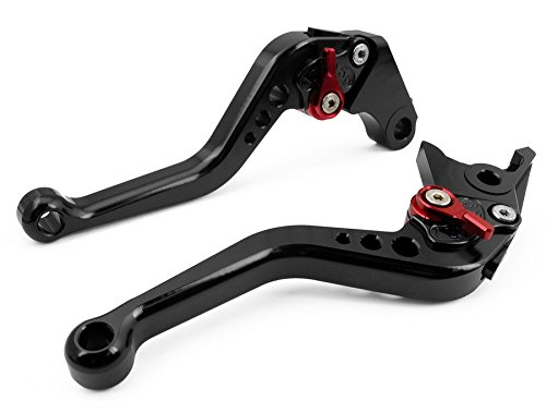 Motorcycle Part Accessories A Pair of Motorbike 6-Click Adjustable CNC Aluminum Left Right Handlebar Control Short Brake Clutch Levers for Buell 1125R/CR 2008-2009 (C-777/F-14) for gilera runner 200 2003 2008 runner 125 1997 2002 motorcycle accessories short brake clutch levers silver