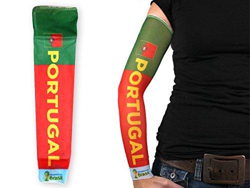 1 manica con tattuaggio finto in stile calcio per tifosi bandiera nazionale internazionale paesi mondiali europei spettacolo braccia coppa estate elastico per uomini e donne, :Portogallo 101