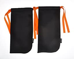 Shoe Totes Outdoor Travel Sports Golf Drawstring Portable Shoe Bag In Black Orange