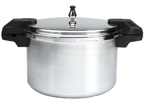 Mirro 92116 Polished Aluminum Dishwasher Safe 16-Quart Pressure Cooker Canner Cookware, Silver