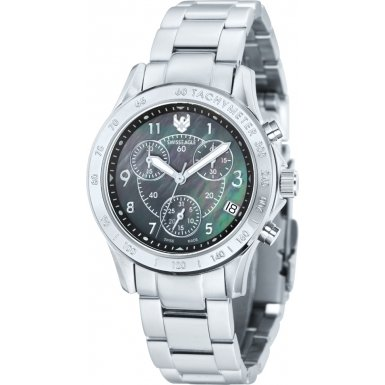 Swiss Eagle SE-6026-11 Ladies Talon Silver Chronograph Watch