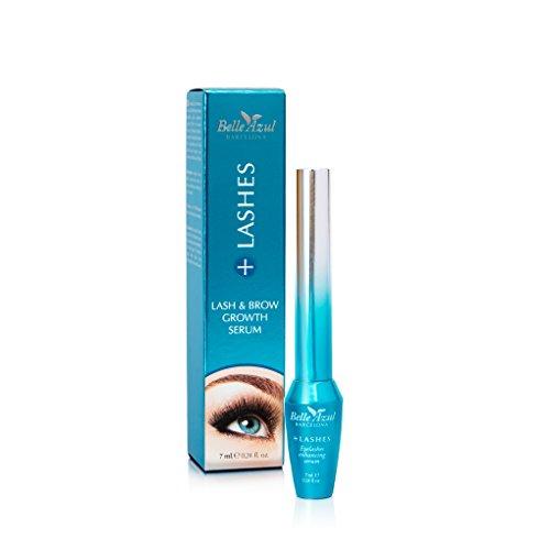 Belle Azul +Lashes - Siero intensificatore crescita ciglia e sopracciglia. Intensifica il volume, infoltisce e dona corposità alle ciglia. Per ciglia forti e sane! Esalta la naturale bellezza. 7ml