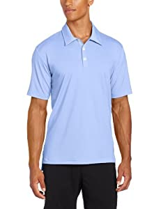 adidas Golf Men's Climalite Solid Stretch Jersey Polo, Periwinkle, Small