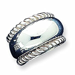 Sterling Silver Twisted Dome Stacked Ring