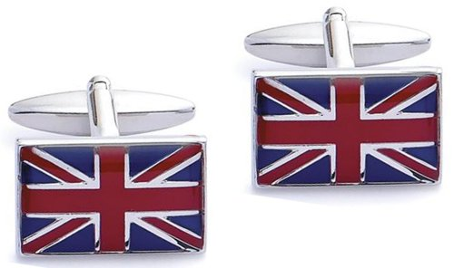 Code Red Base Metal Rhodium Plated 'Uk Flag' Cufflink Reviews