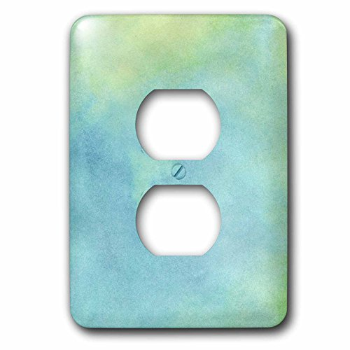 Janna Salak Designs Boho - Blue and Green Watercolor - Light Switch Covers - 2 plug outlet cover (lsp_212484_6) (Light Blue Wall Paint compare prices)