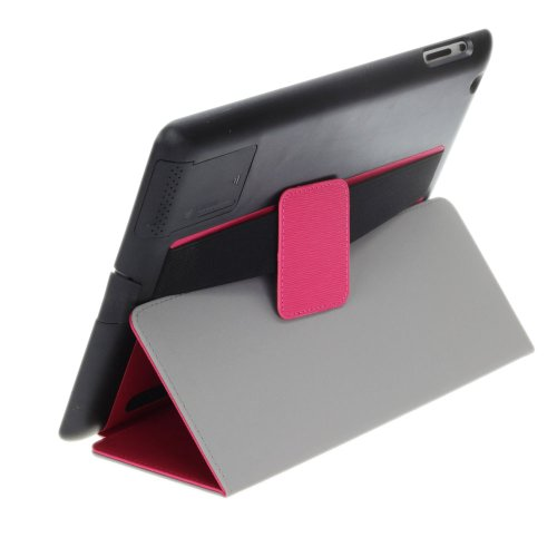 Annengjin Ipad 2/3/4 Slim Smart Case With Built-In Sound Reflector To Boost Volume, Magnet Activated Sleep/Wake Smart Cover And Fold-Away Stand With Secure Hand Strap