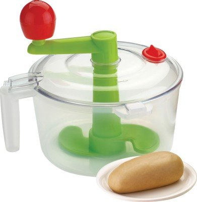 Shopo Vegetable Chopper & Dough Atta Maker 2 In 1 Plastic Spiral Gadgest Bucket available at Amazon for Rs.209