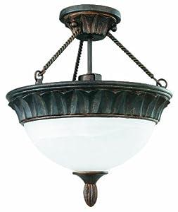 Thomas Lighting SL848123 Cambridge Ceiling Light, Colonial Bronze