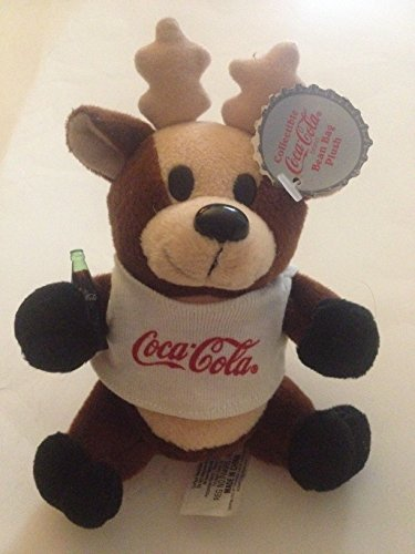 Plush Toy Reindeer in Coca Cola T-Shirt Vintage 1998