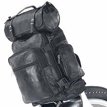 Wmu Diamond 3Pc Buffalo Leather Motorcycle Bag Set (Pack Of 1)
