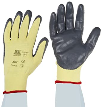 Showa Best 4560 Zorb-IT MXOA Sponge Nitrile Glove, Ultimate Flat Dipped Seamless Stretch Kevlar Lycra Liner, Color Coded Cuff, Cut Resistant