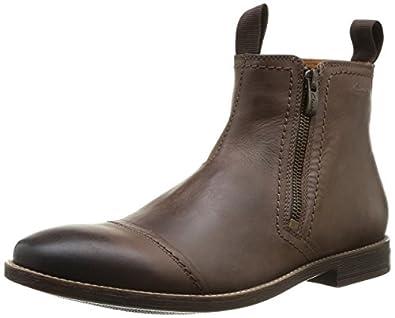 Clarks Novato Zip, Herren Kurzschaft Stiefel, Braun (Brown Leather), 39.5 EU (6 Herren UK)