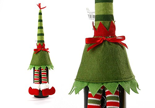 Lovely Christmas Wine Bottle Cover Bag Doll Decoration Xmas Ornaments Gifts >>>>