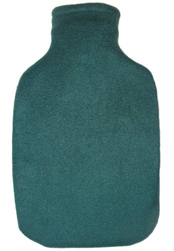 Warm Tradition Forest Green Fleece Covered Hot Water Bottle - Bottle Made In Germany, Cover Made In Usa