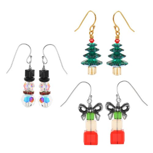 Crystal Christmas Earring Set Kit - Exclusive Beadaholique Jewelry Kit