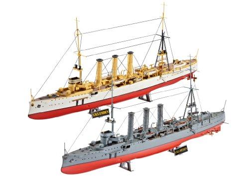 Revell-Modellbausatz-05500-WWI-Cruisers-SMS-Dresden-und-Emden-im-Mastab-1350