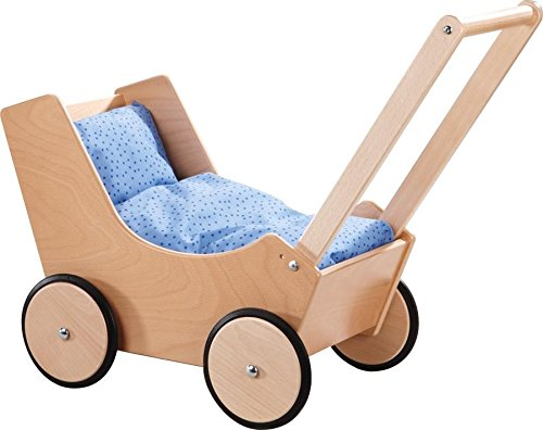 HABA Doll Pram in Natural Wood - 1
