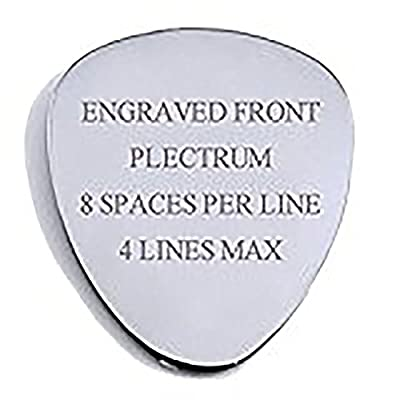 Personalised Stainless Steel .51mm Guitar Plectrum Engraved Pick