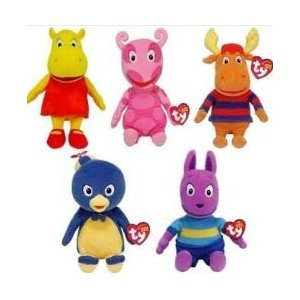 41kwIMCsW4L Reviews Ty Backyardigans Beanie Baby Set of 5 Beanie Babies (Tyrone, Uniqua, Pablo, Austin & Tasha) + Free Alphabet A Z Rainbow Tye Dye
