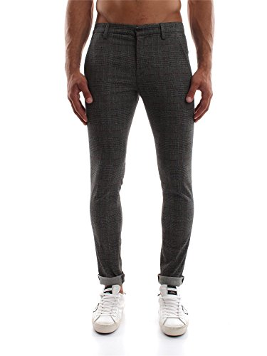 DONDUP GAUBERT UP235 QS092U CHECK PANTALONE Uomo CHECK 31