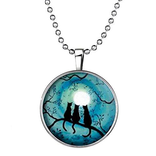 time-pawnshop-cute-cats-original-design-noctilucent-all-match-pendant-necklace